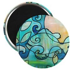 Sunny Fish Underwater Blue by Melanie Douth Magnet
