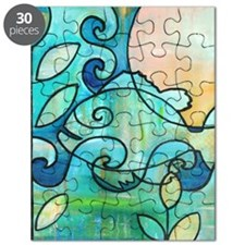 Sunny Fish Underwater Blue by Melanie Douth Puzzle