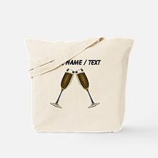 Custom Champagne Glasses Tote Bag