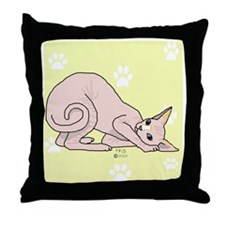 Perry on Yellow Throw Pillow