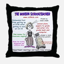 The Modern Teacher Throw Pillow