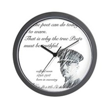 Wilfred Owen - All the poet can do toda Wall Clock