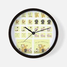 Fabric sampler Wall Clock