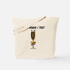 Custom Champagne Glass Tote Bag