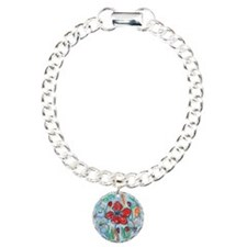 The Red Poppy Floral Art Bracelet