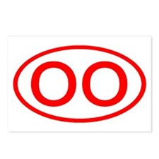 OO Oval (Red) Postcards (Package of 8)