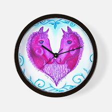 Curly Victoria Purple Wall Clock