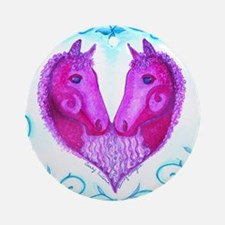 Curly Victoria Purple Round Ornament