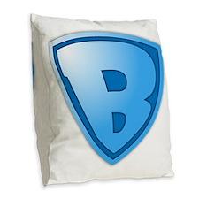 Superb Super B Super Baby Burlap Throw Pillow