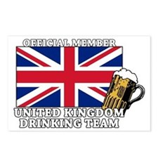 UK Drinking Team Postcards (Package of 8)