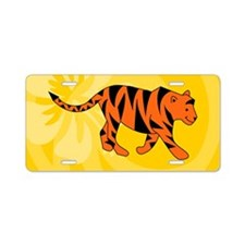 Tiger 20X12 Wall Decal Aluminum License Plate