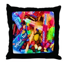 Candy Girl Cat Forsley Designs Throw Pillow