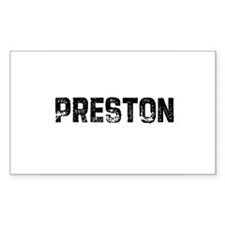 Preston Rectangle Decal