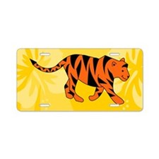 Tiger 35X21 Wall Decal Aluminum License Plate