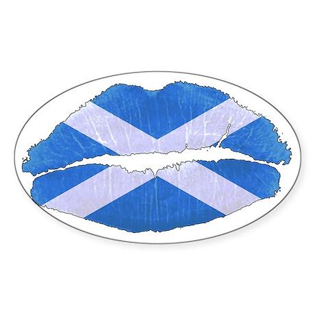 Scottish Kiss Off Sticker (Oval)