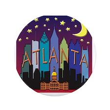 "Atlanta Skyline mega color 3.5"" Button"