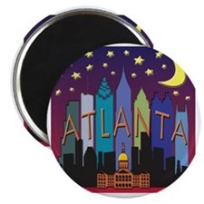 Atlanta Skyline mega color Magnet