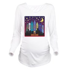 Atlanta Skyline mega Long Sleeve Maternity T-Shirt