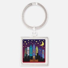Atlanta Skyline mega color Square Keychain
