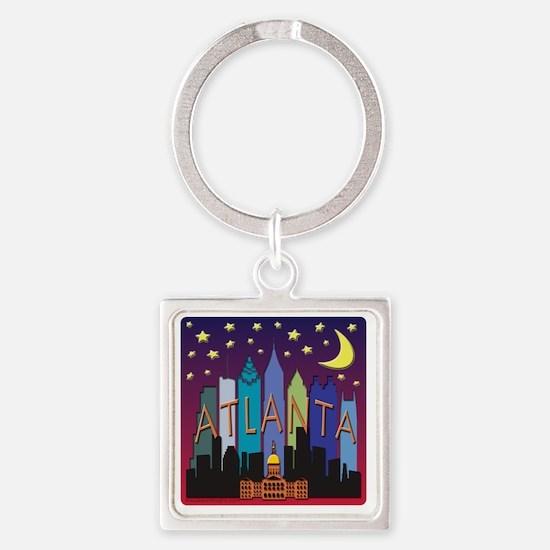 Atlanta Skyline mega color Square Keychain