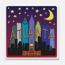 Atlanta Skyline mega color Tile Coaster