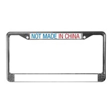 Not made in China License Plate Frame