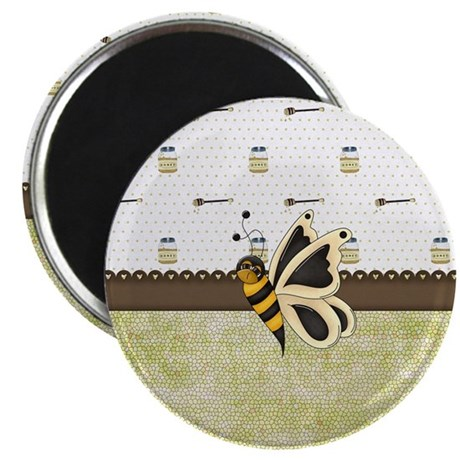 Cute Bumble Bee and Honey Magnet