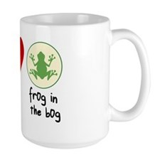 Peace Love Frogs Mug