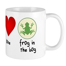 Peace Love Frogs Mug