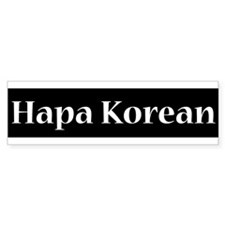 Hapa Korean Bumper Bumper Sticker