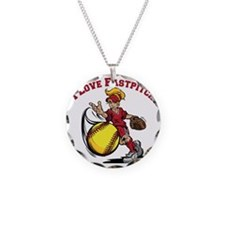 red, Love Fastpitch Necklace
