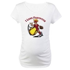 red, Love Fastpitch Shirt