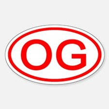 OG Oval (Red) Oval Decal