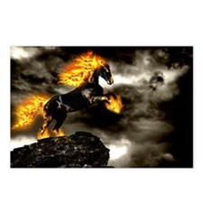Burning Horse Postcards (Package of 8)