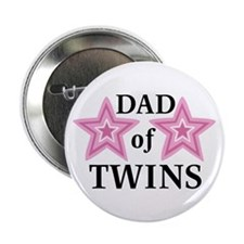 Dad of Twins (Girls) Button