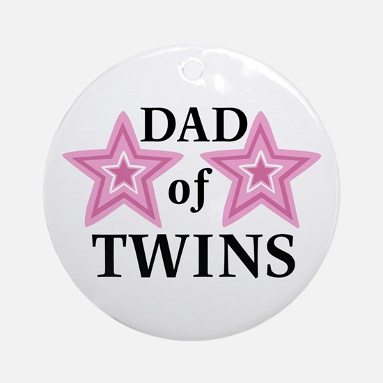 Dad of Twins (Girls) Ornament (Round)