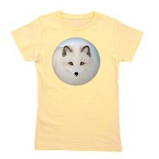 Cute Arctic Fox Girl's Tee