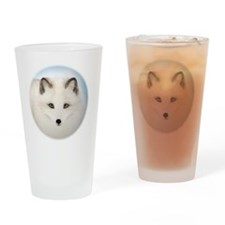 Cute Arctic Fox Drinking Glass
