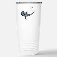 Whale shark Black and B Stainless Steel Travel Mug