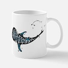 Whale shark Black and Blue Mug