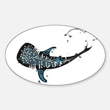 Whale shark Black and Blue Decal