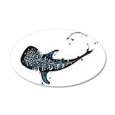 Whale shark Black and Blue Wall Decal