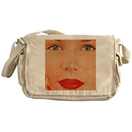 Retro Woman Messenger Bag