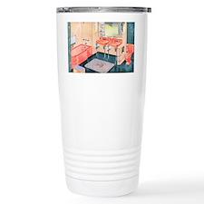 Peachy Keen Retro Travel Mug