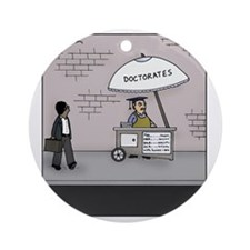 Doctorate Stand Round Ornament