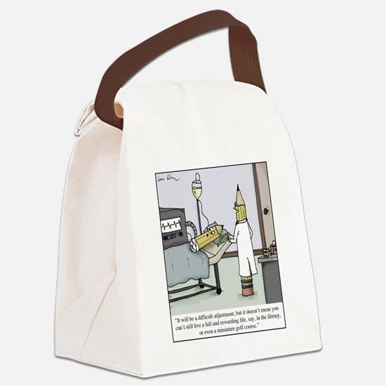 Pencil Amputation Canvas Lunch Bag