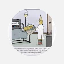 "Pencil Amputation 3.5"" Button"