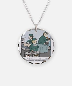Surgeon going through wallet Necklace