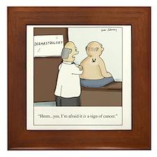 Dermastrologist Framed Tile