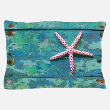 Starfish and Turquoise Rustic Pillow Case